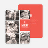 Merry Photos Holiday Cards - Red