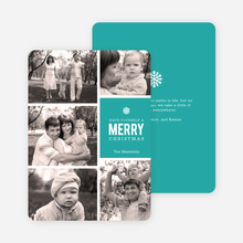 Merry Photos Holiday Cards - Blue