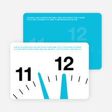 New Year's Eve Party Invitations: Countdown Clock - Sky Blue