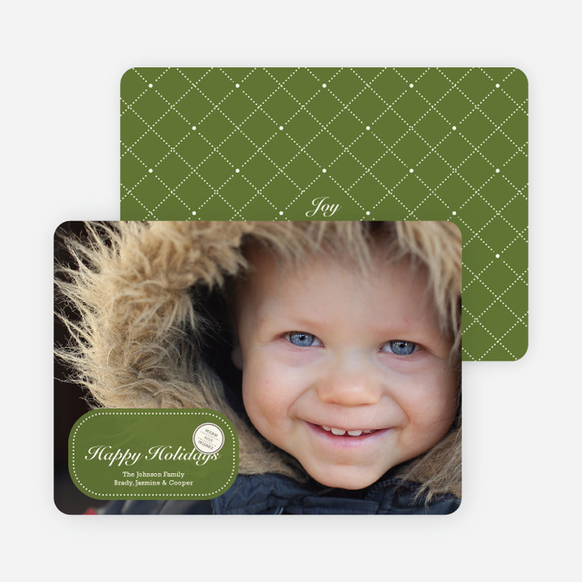 Sealed with a Photo Holiday Cards - Chartreuse