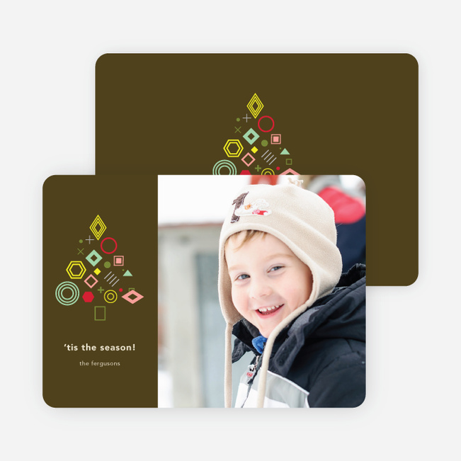 Tree Gems Holiday Cards - Brown