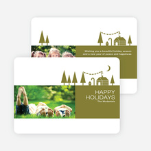 Woodsy Green Farm Holiday Cards - Brown