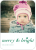 Merry & Bright Snowflake - Front View