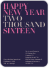 Bold Type New Years - Front View