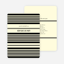 Abstract Stripes New Year's Invitations - Ecru