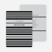 Abstract Stripes New Year's Invitations - Pewter