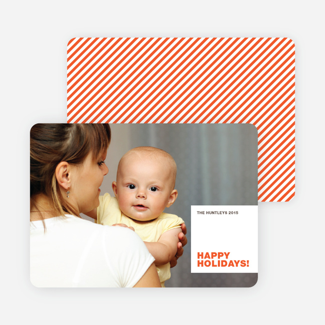 All Square Happy Holidays from Paper Culture - Persimmon