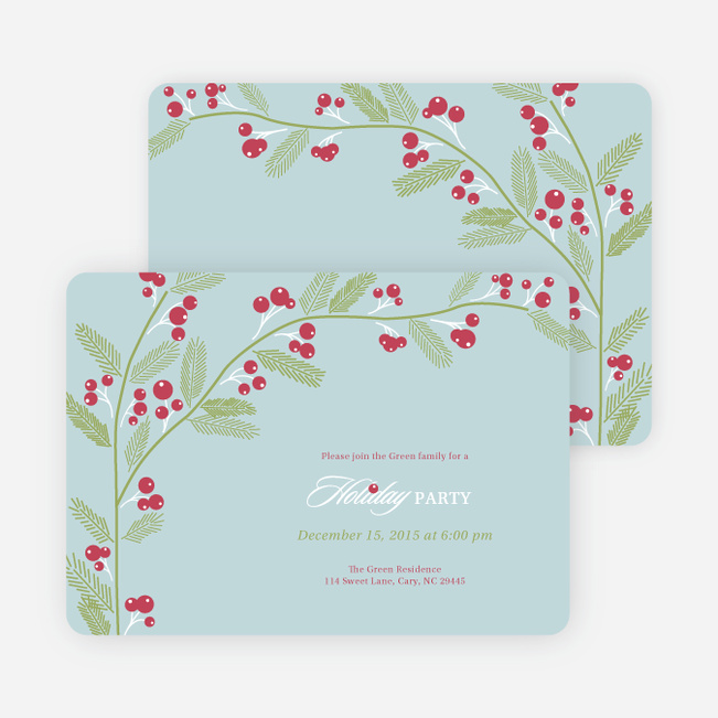 Berry Invite Holiday Invitations | Paper Culture