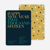 Bold New Year's Eve Party Invitations - Slate Blue