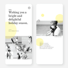 Bright and Delightful Holiday Cards - Yellow