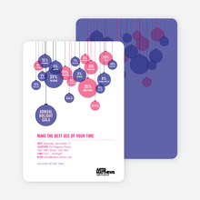 Corporate Holiday Party Invitations - Hot Pink