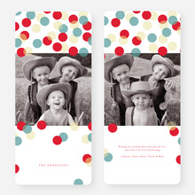 Dots Galore Holiday Cards - Blue