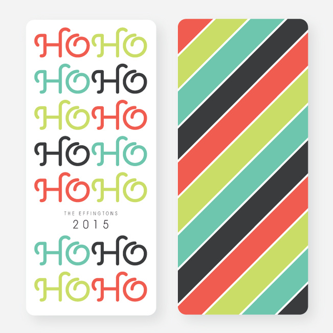 Ho Ho Ho Non-Photo Holiday Cards - Multi