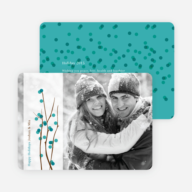 Holiday Berries Christmas Cards - Teal