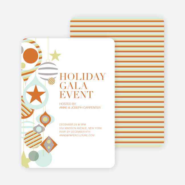 Holiday Gala Holiday Party Invitations - Pumpkin