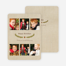 Holiday Laurel Holiday Photo Cards - Cinnamon