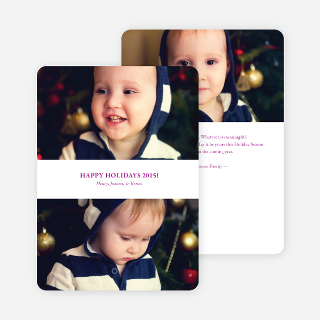 Inverted Photo Sandwich Holiday Cards - Violet