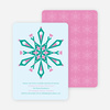 Kaleidoscope Holiday Invitations - Teal