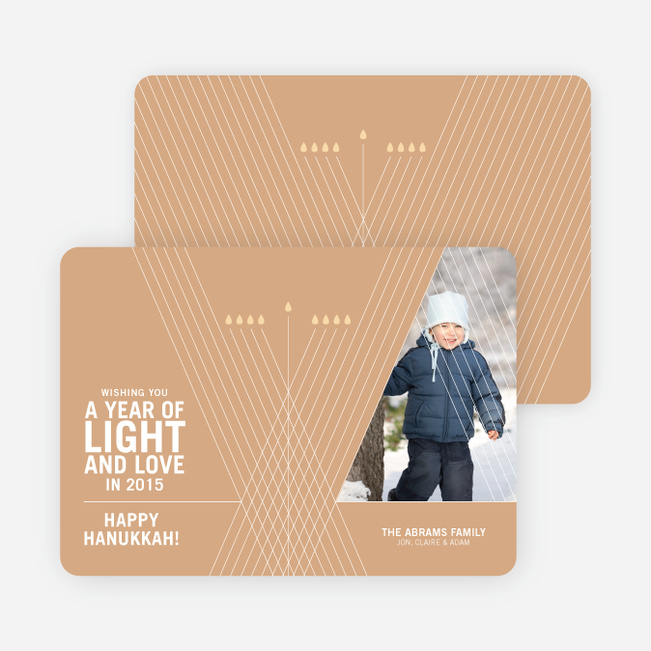 Light and Love Hanukkah Cards - Ginger