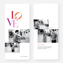 Love Large Holiday Cards - Red