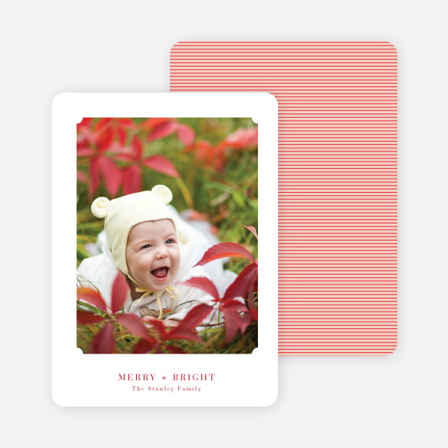 Matte It Holiday Photo Cards - Berry Red