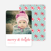 Merry & Bright Snowflake Holiday Cards - Red