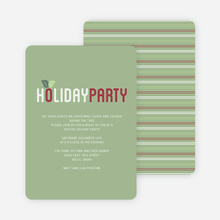 Mistletoe Holiday Party Invitations - Green