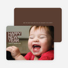 Modern Happy New Years Photo Cards - Espresso