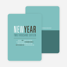 New Beginnings New Year's Invitations - Mystic Blue