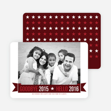 New Year Star Cards - Red