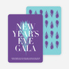 New Year's Eve Gala Party Invitations - Azure