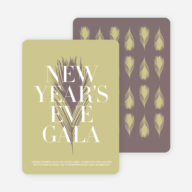 New Year's Eve Gala Party Invitations - Mauve
