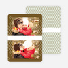 New Year's Pattern Photo Cards - Red