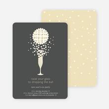 Pop the Champagne New Year's Party Invitations - Charcoal