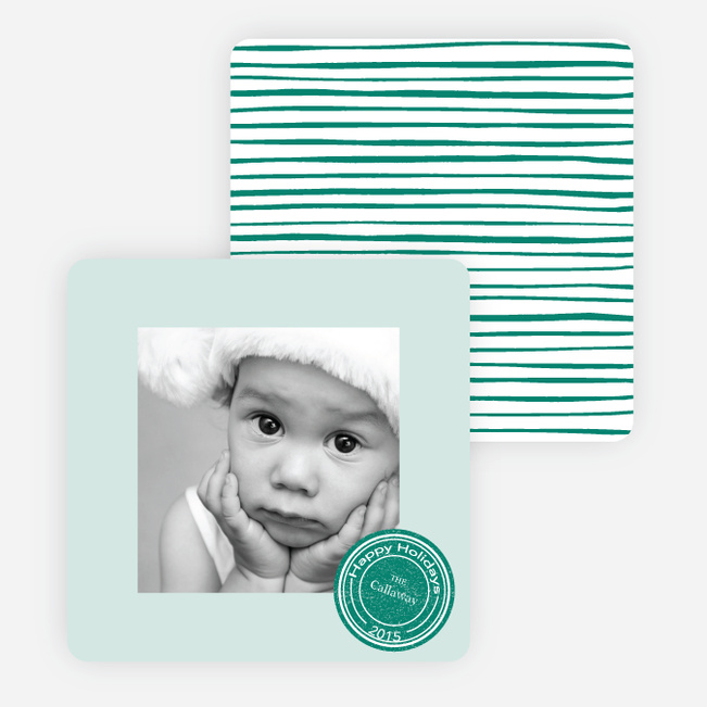 Putting a Stamp on the Holidays Cards - Green