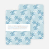 Snowflake Pattern Holiday Invitations - Mystic Blue