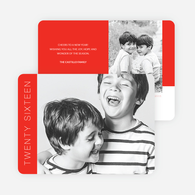 Bold New Year's Cards - Red