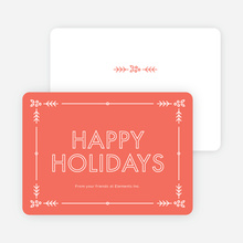 Holly Border Corporate Holiday Cards - Red