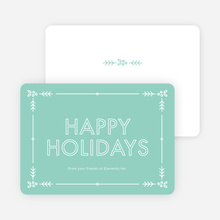 Holly Border Corporate Holiday Cards - Blue