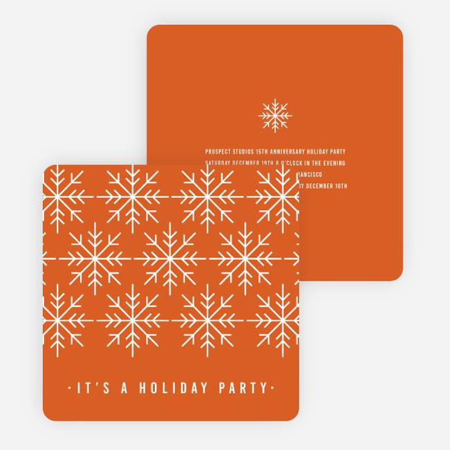 Holiday Party Invitations – Snowflake Party Invitations