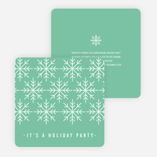 Snowflake Holiday Party Invitations - Blue