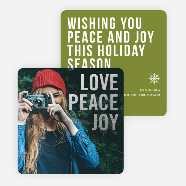 Big and Bold Foil Holiday Cards - Green