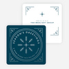 Classic Foil Snowflake Corporate Holiday Cards - Blue