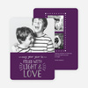 Foil Christmas Cards Filled with Light & Love - Purple
