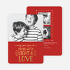 Foil Christmas Cards Filled with Light & Love - Red