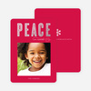 Foil Peace Holiday Cards - Pink