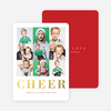 Lots of Squares Foil Holiday Cards - Red