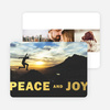 Peace & Joy Holiday Foil Cards - Red