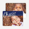 Script Cheers Foil Holiday Cards - Black
