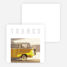 A Better Path Outline Photo Thank Yo Cards - Black